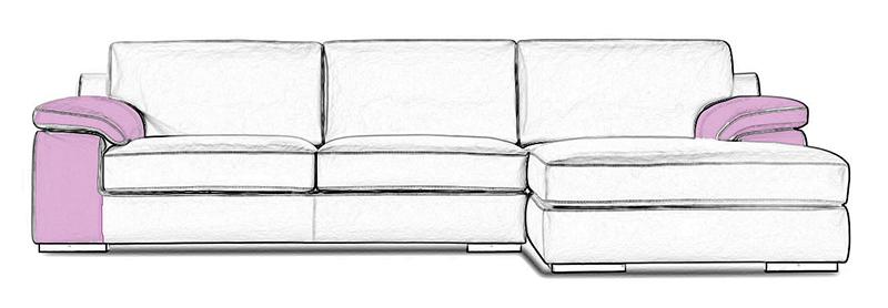 Les accoudoirs ou manchettes d'un canapé