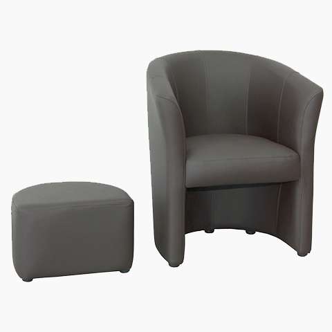 fauteuil cabriolet avec pouf int gr terre meuble. Black Bedroom Furniture Sets. Home Design Ideas
