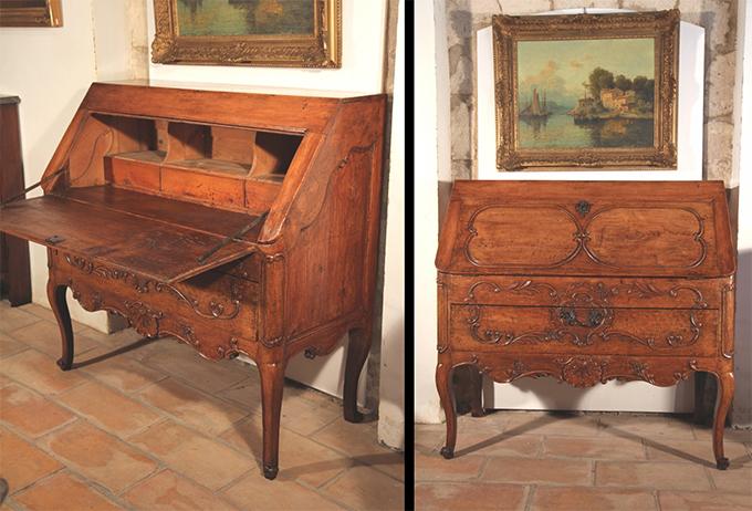 Secrétaire dos d'ane style Louis XV - Provence d'époque XVIII° - Crédit Anticstore