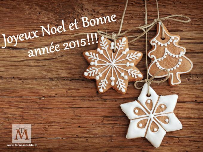 Terre Meuble vous souhaite de joyeuses fêtes et une bonne année 2015