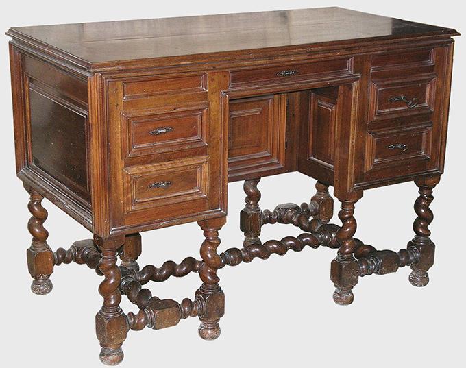 Comment reconna tre le style louis xiii terre meuble for Meuble bureau jambes