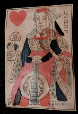 Dame de coeur par le célèbre cartier Guillaume MANDROU vers 1780