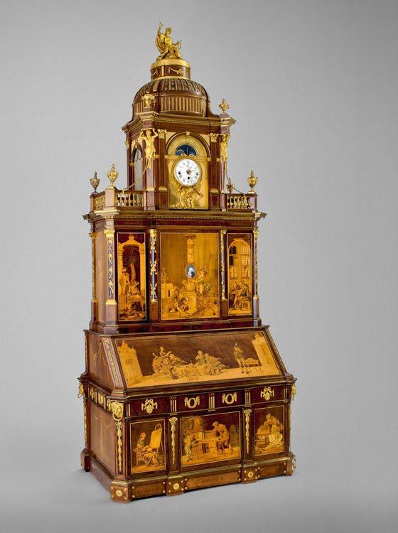 Cabinet fabriqué par David ROENTGEN en 1779 pour Frédéric Guillaume II de Bavière