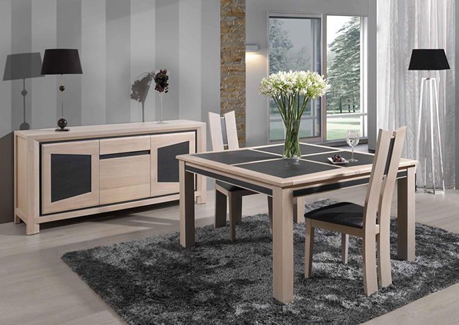 la table de salle manger c ramique terre meuble. Black Bedroom Furniture Sets. Home Design Ideas