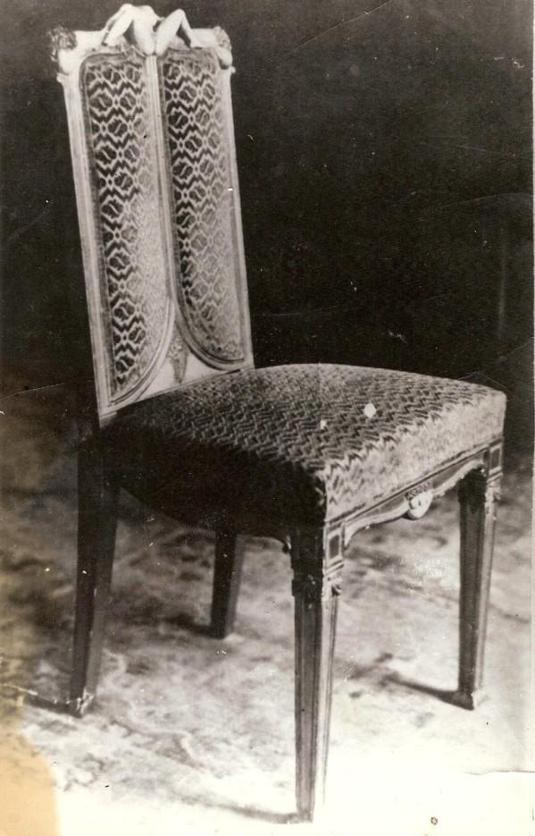 Photographie d'une des chaises