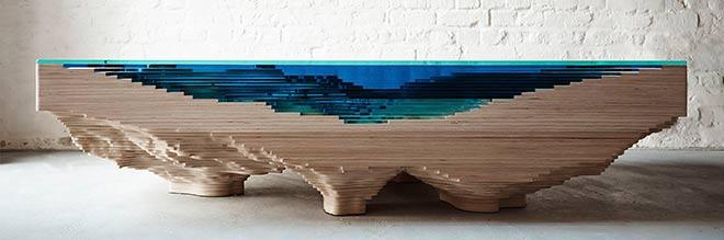 La table Abyss vue de côté - Crédit Duffy London