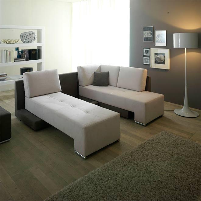 Les deux assises séparées offrent 2 couchages de 90 cm - © AERRE Divani