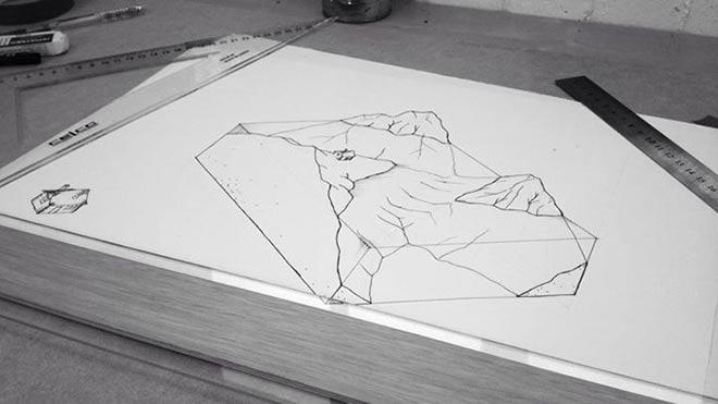Le dessin en 3D d'un futur projet.