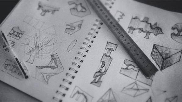 Des idées posées en vrac sur un cahier ...