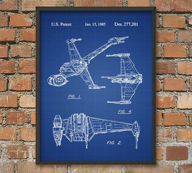 63-Poster-Star-Wars-plan-de-vaisseau-spatial