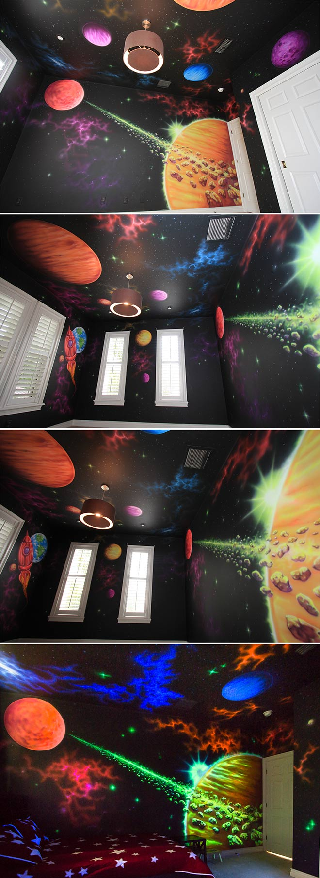 Space Mural - Réalisation Jason Hulfish