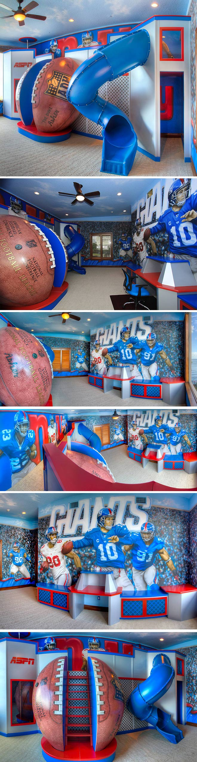 Football Playroom - Design par Jason Hulfish