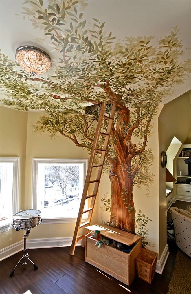 Treehouse Mural - Design par Jorge Simos