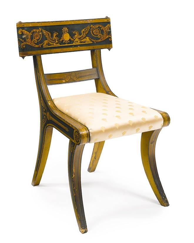 le klismos si ge venu de la gr ce antique terre meuble. Black Bedroom Furniture Sets. Home Design Ideas