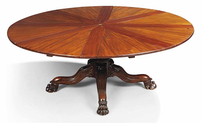 table jupe en acajou fabrique entre 1835 et 1840 crdit christies - Table Ronde Extensible Magique