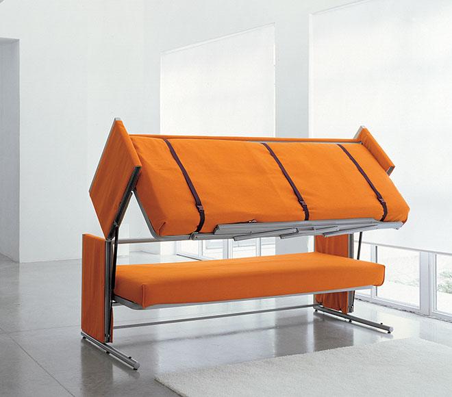 Le canapé Doc en cours de conversion - © Clei