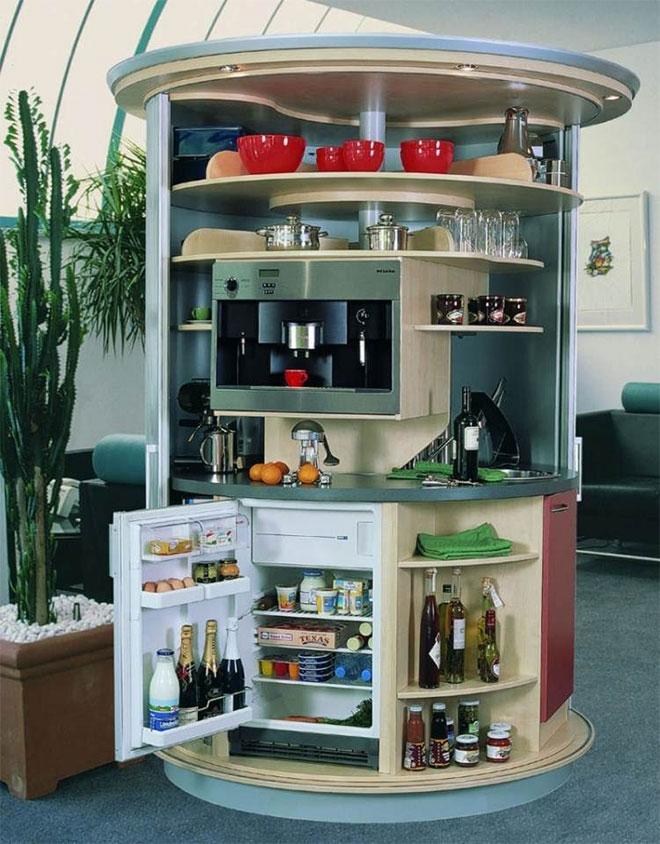 Le côté réfrigérateur et machine à café - © Compacts Concepts