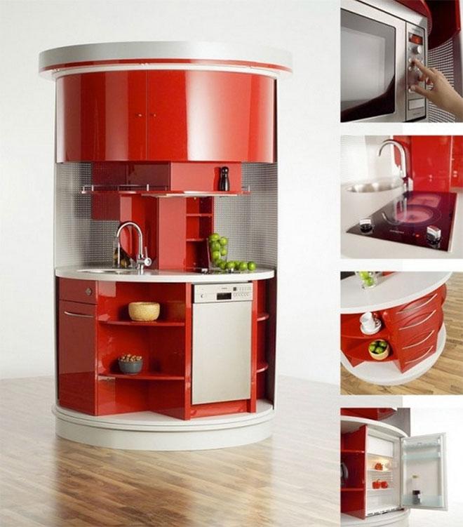 La Circle Kitchen ouverte différents équipements - © Compacts Concepts