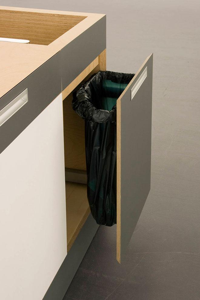 Tout a été pensé y compris le coin poubelle - © Kristin Laass et Norman Ebelt