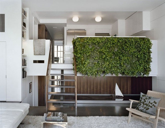 Mur végétal sur mezzanine - Crédit internet