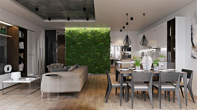 81-mur-végétalisé-salle-a-manger-design