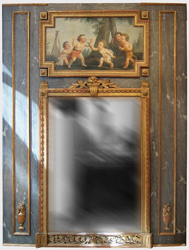 Trumeau époque Louis XVI vers 1780 - Source antiquites-catalogue.com