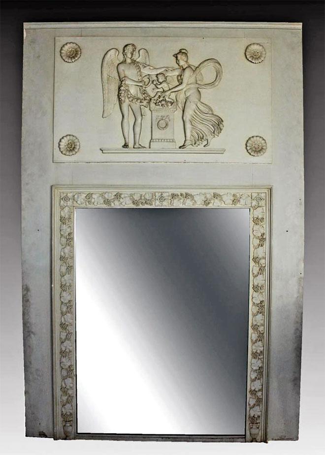Trumeau en bois laqué début du 19eme siècle époque empire restauration - Source : anticstore.com