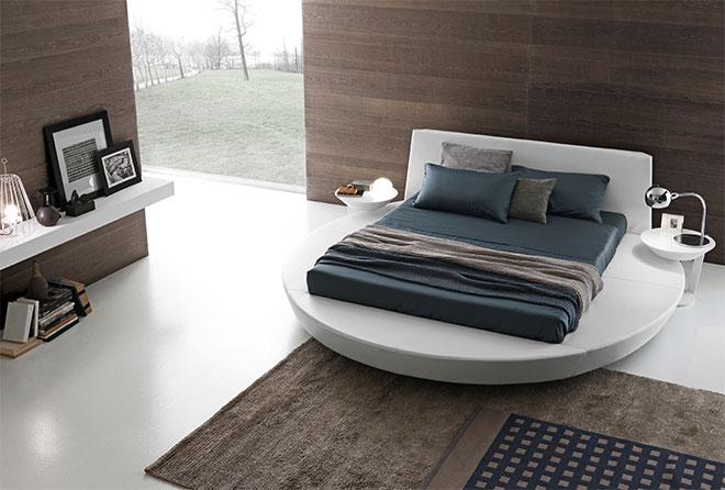 La chambre Zero avec son lit rond - © PRESOTTO