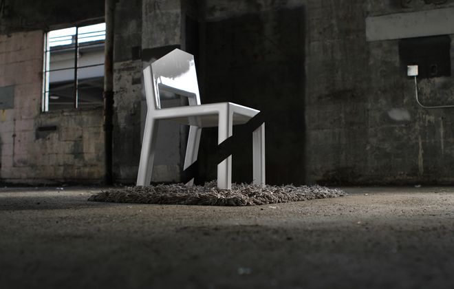 La Cut Chair en perspective, époustouflant !!! - © Peter Bristol