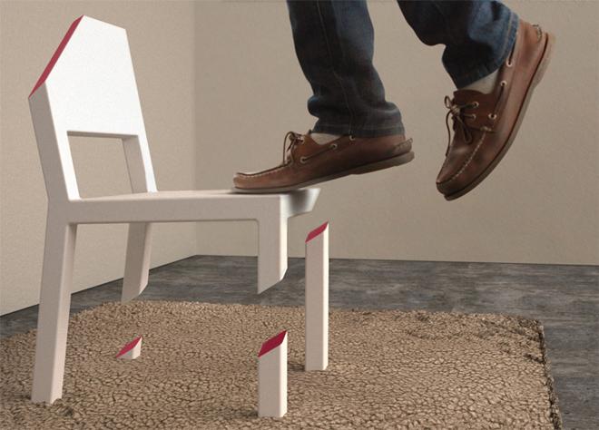La Cut Chair est une vraie chaise qui supportera votre poids - © Peter Bristol