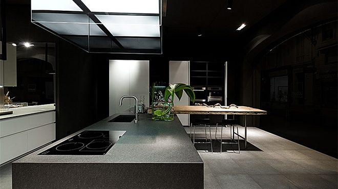 Cuisine quip e moderne haut de gamme boffi terre meuble for Gamme de prix cuisine