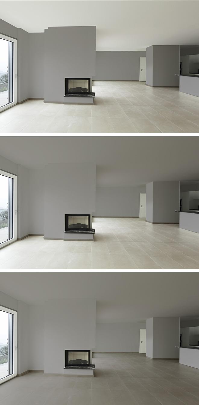 Augmenter le nombre de plans foncés renforce la chaleur d'une pièce mais peut donner une sensation d'écrasement