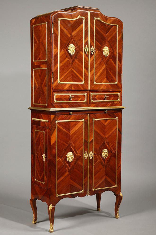 Cartonnier 2 corps de style Louis XVI - Fin XVIIIeme - Crédit : galerie-atena.com
