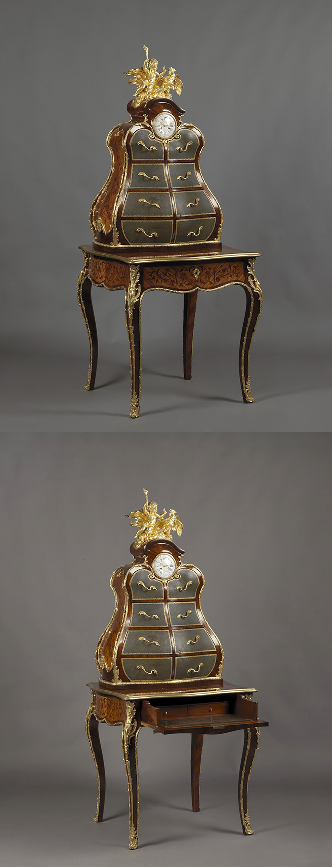 Secrétaire cartonnier vers 1880 style Louis XV - © Adian Alan