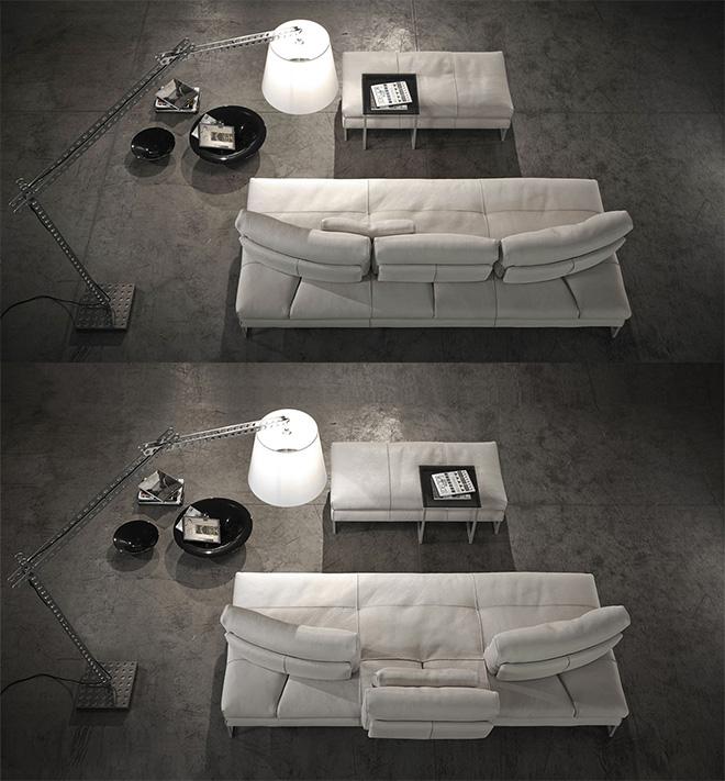 Chacun des dossiers coulisse pour offrir autant de chaises longues - © Gamma