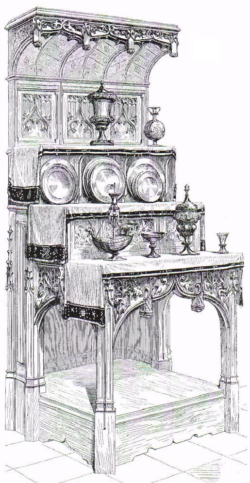 Dressoir dessiné par Viollet-le-Duc - Dictionnaire raisonné du mobilier français de l'époque carolingienne à la Renaissance
