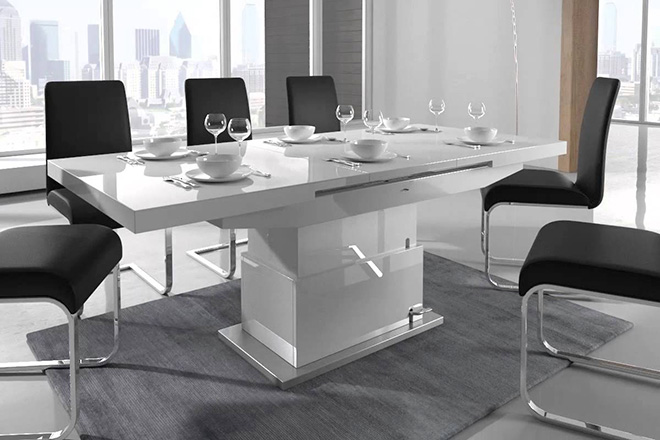 Table qui se transforme en table de salon for Meuble qui se transforme